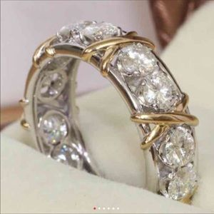 (Size 5) 10K gold engagement ring